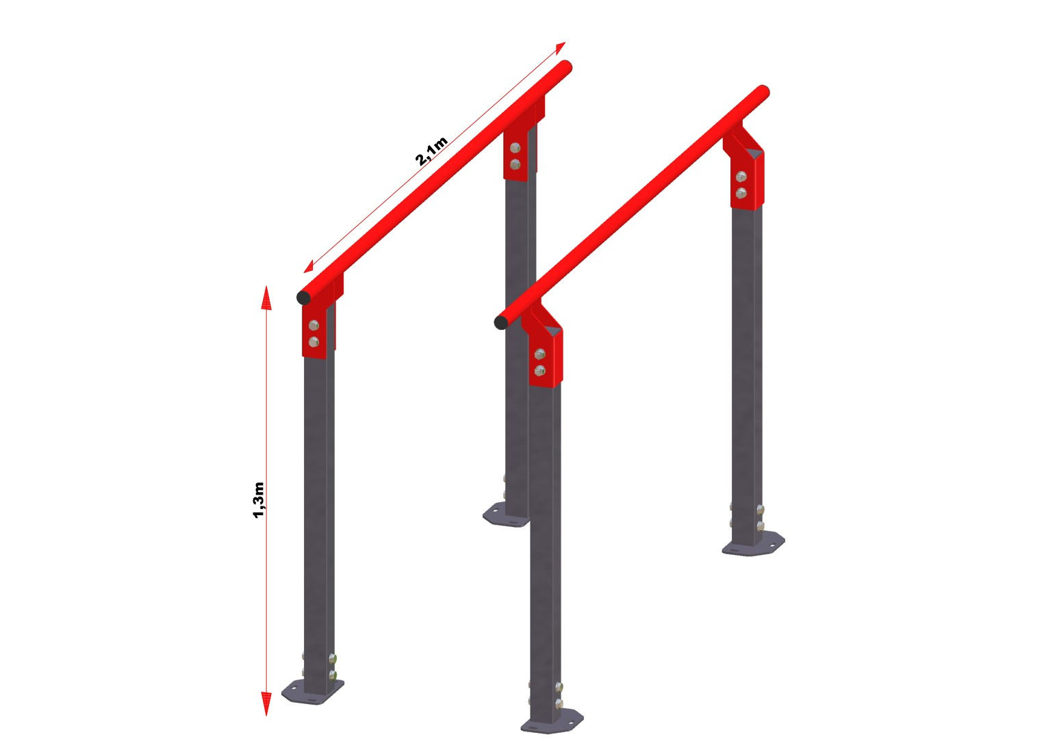 Gorilla grip parallel bars 1 3 meter hoog summit fitness - Service hoog ...